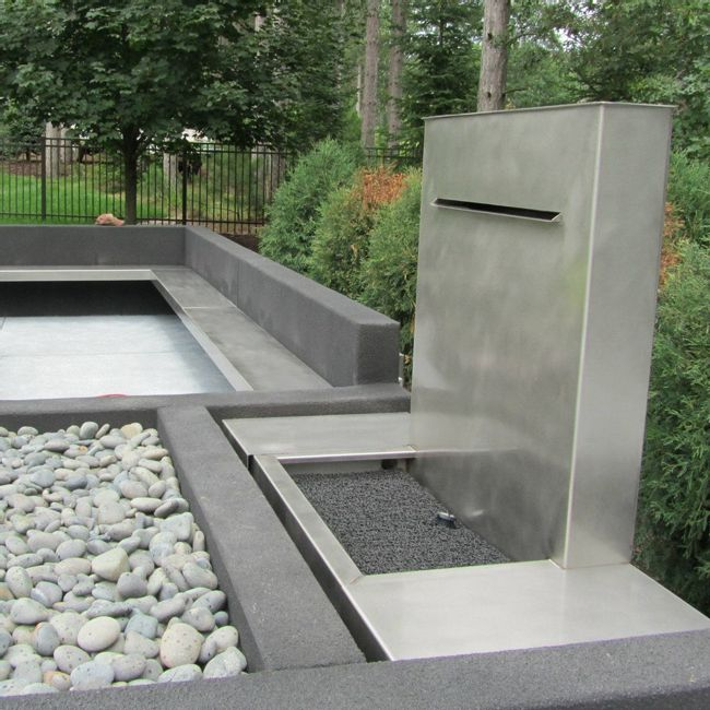 Concrete Fountain and Benches photo