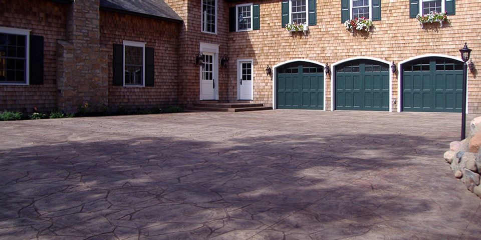 Stamped Concrete Driveway photo