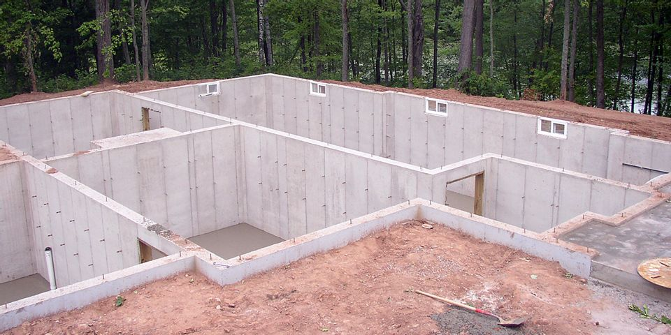 Concrete Foundation for New Home photo