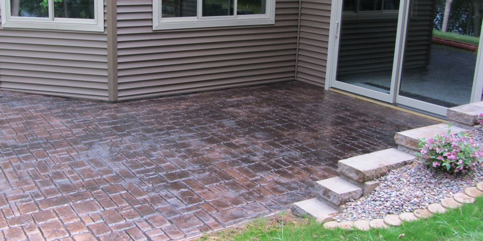 Stamped Concrete Patio photo