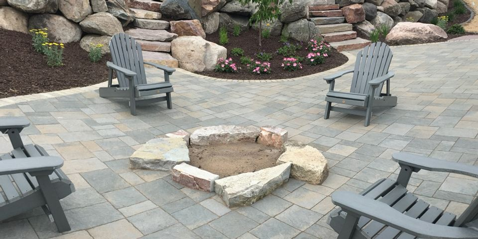 Decorative Concrete Patio and Stairs photo