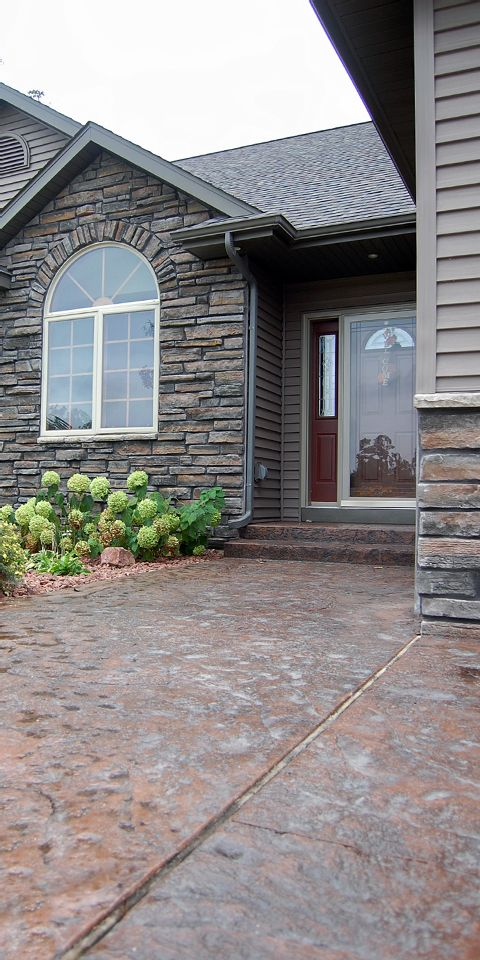 Stamped Concrete Walkway photo