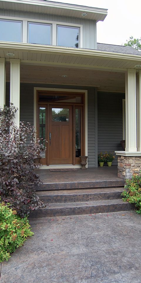 Decorative Concrete Walkway and Front Entry photo