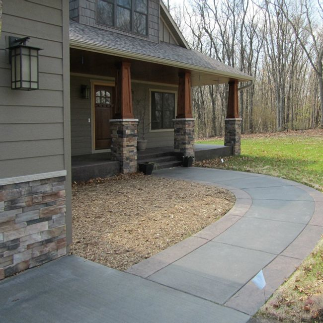 Stamped Concrete Walkway and Porch photo
